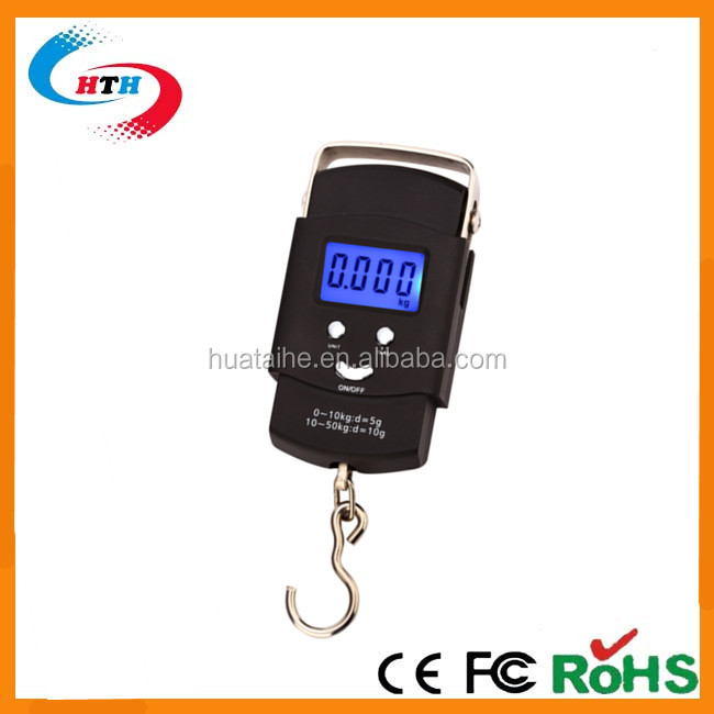 50kg New Product Design Digital Hanging Scale Waterproof Fish Electronic Luggage Scale With Hook