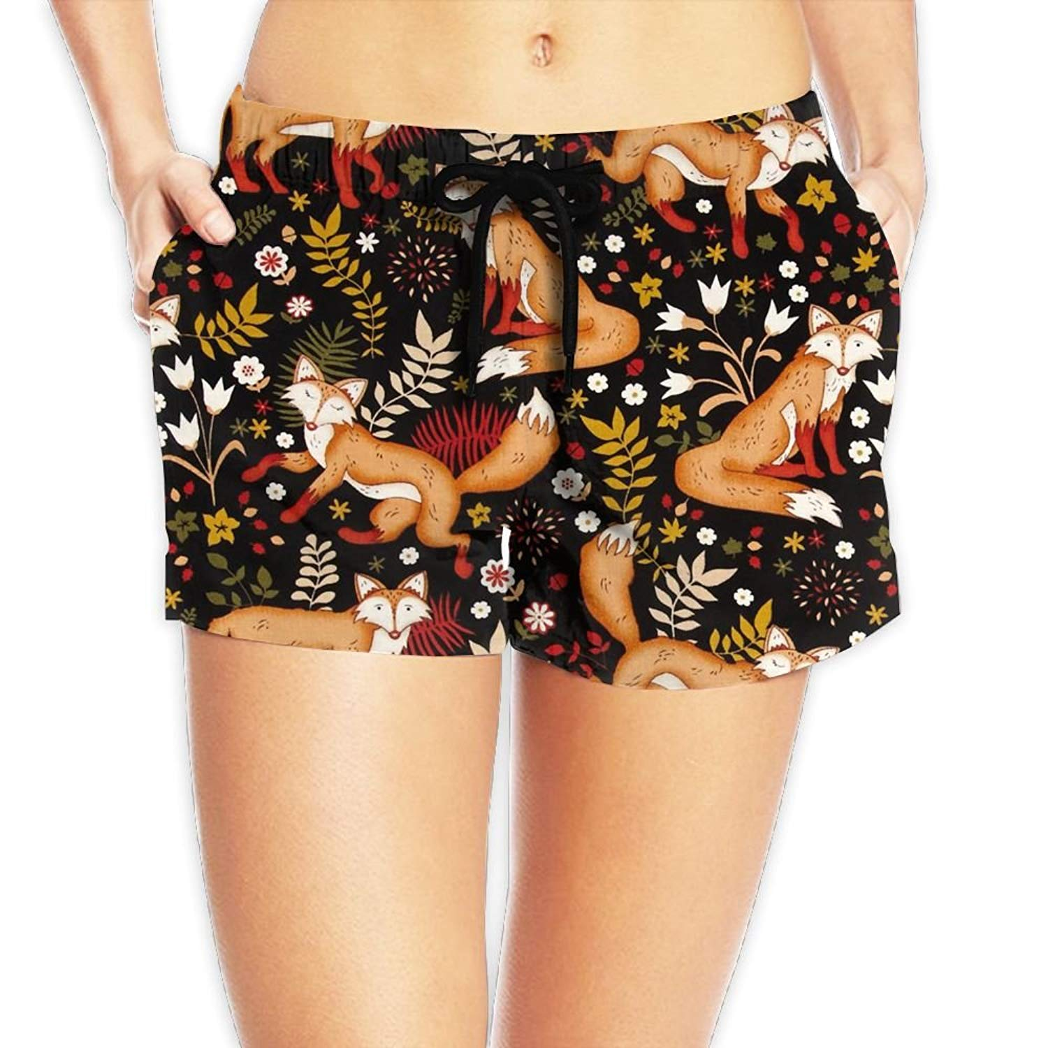 4757475c12 Get Quotations · Beautiful Fox Sexy Quick Dry Boardshort Hot Pants Swimming  Trunks Tropical Beach Shorts for Women Girls