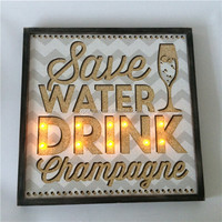 novelty light save water drink LED light shadow box