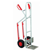 Low price two pneumatic wheel heavy duty hand trolley cart for sale