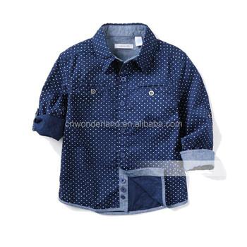 32b2098e8 Marina niños camisas con forro primavera otoño niños Camisas manga larga  camisa roja azul marino