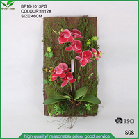 Artificial cecorative tree bark with real touch orchid flower