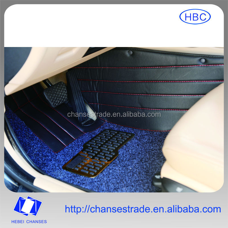 5D Integrated Auto Foot Mat Black Carpet