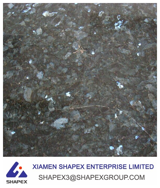 Unpolished raw Norway Emerald pearl granite slabs