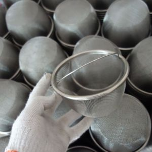 Food Grade Customized Stainless Steel Mesh Cap Filter/Bowl Shape Filter Mesh Screen Strainer with Handle
