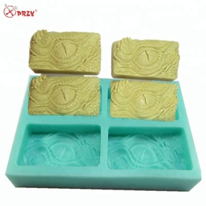 Dragon eyes 4 Cavities Soap molds Ice mould dragon pattern Cake baking mold silicone