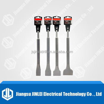4pc sds plus chisel set flat,point groove gouge drill hammer drills