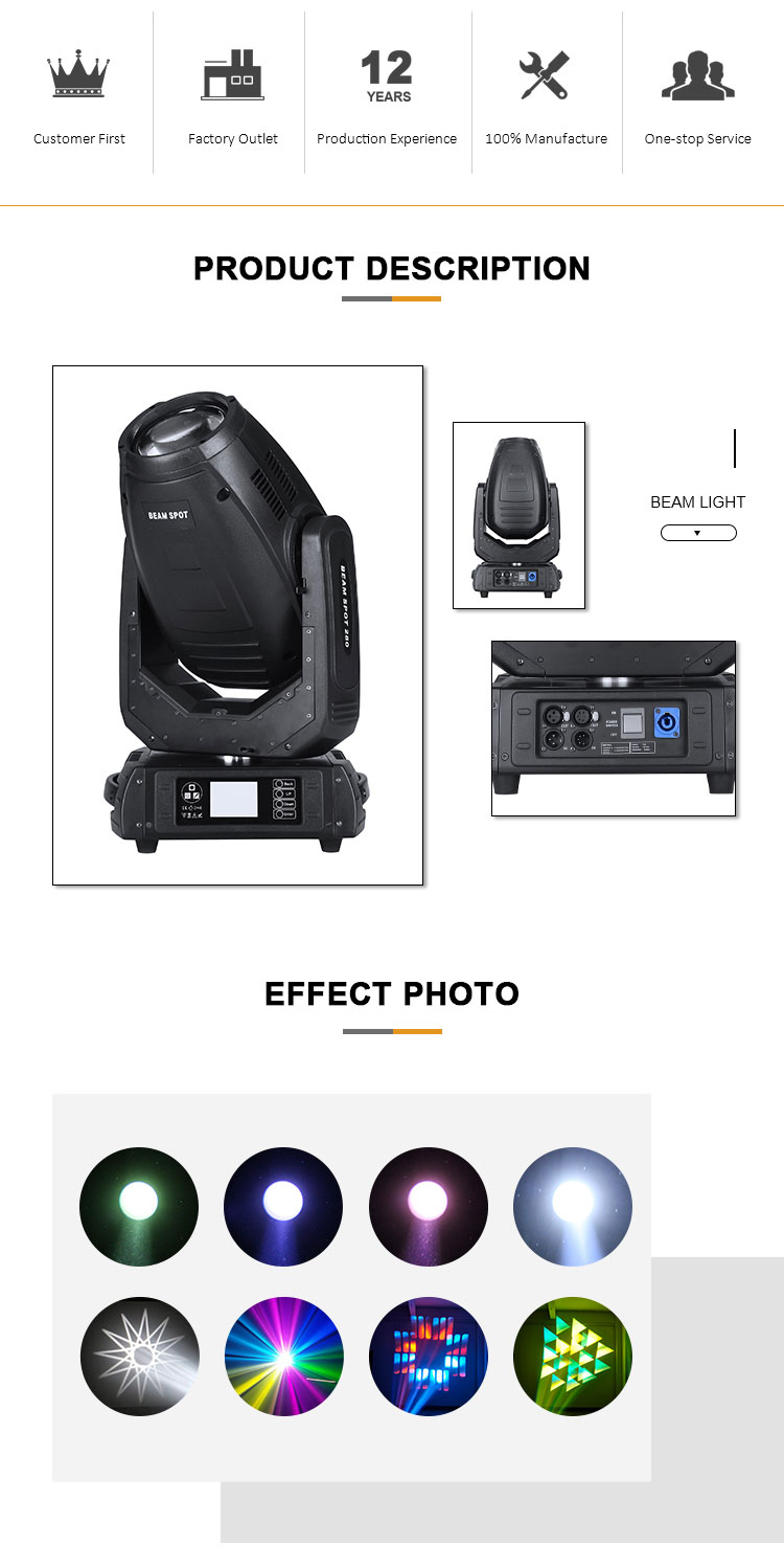 New arrival MANGO 280w spider moving head light solar beam laser