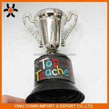 Cheap Black Custom Silver Plastic Trophy Cup For Kids Awarding