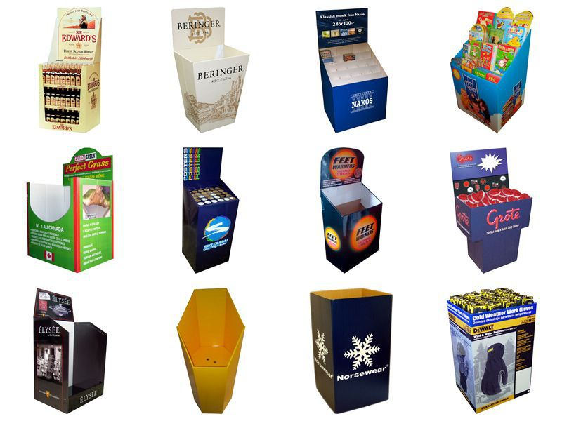 High Quality Merchandising Cardbod Paper Dump Bins Pillow Display For Retail