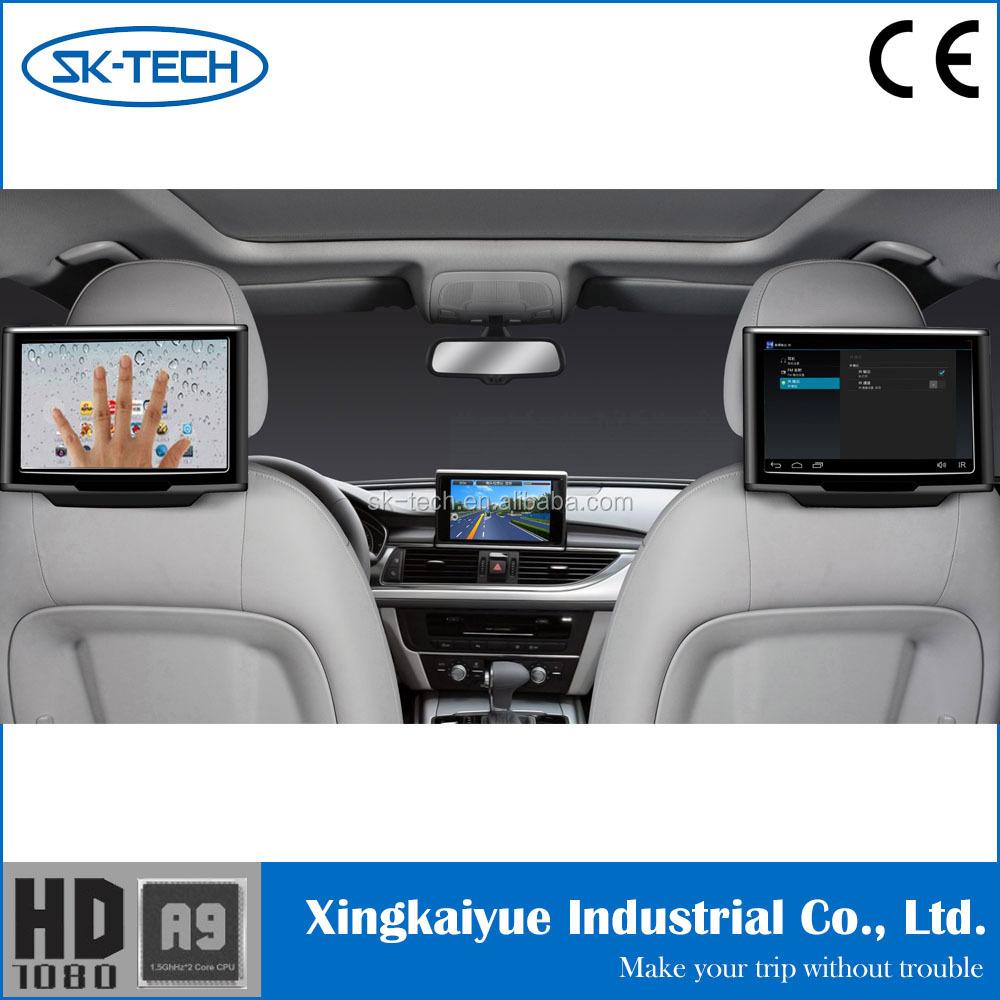 צעיר דיגיטלי מסך מגע tft lcd רכב משענת ראש צג אחורי לרכב אנדרואיד מערכת YV-18