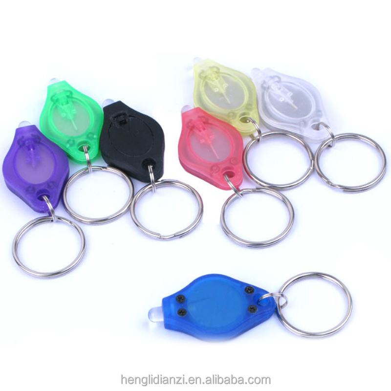 llaveros Camping Light Plastic Diamond Custom Led Light Keychain,Key chain 395-400nm UV Keyring 2019,Mini Led Key ring