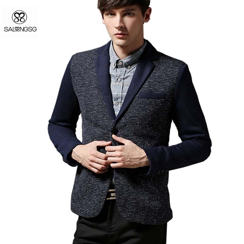 Get Quotations · Vintage Blazer Men Slim Fit 5XL Big Size Mens Blazer Suit  Casual 2015 New Men s Blazer f3b00e3b9b65