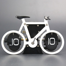 Brand New Bicycle Flip Clock Time Adjustment-Set Desk Clocks For Home Office Decor Retro bike Table Clocks Gift