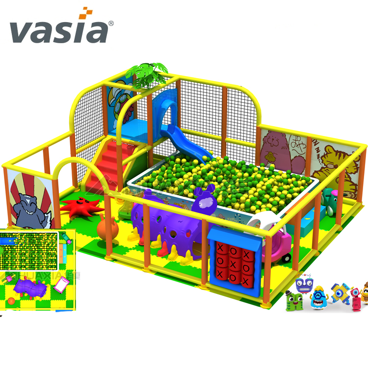 2017 Ocean Balls Children Soft Play Structure With Slides Kids ...