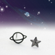Dropshipping Wholesale Metal 925 Silver Star And Moon Stud Earrings