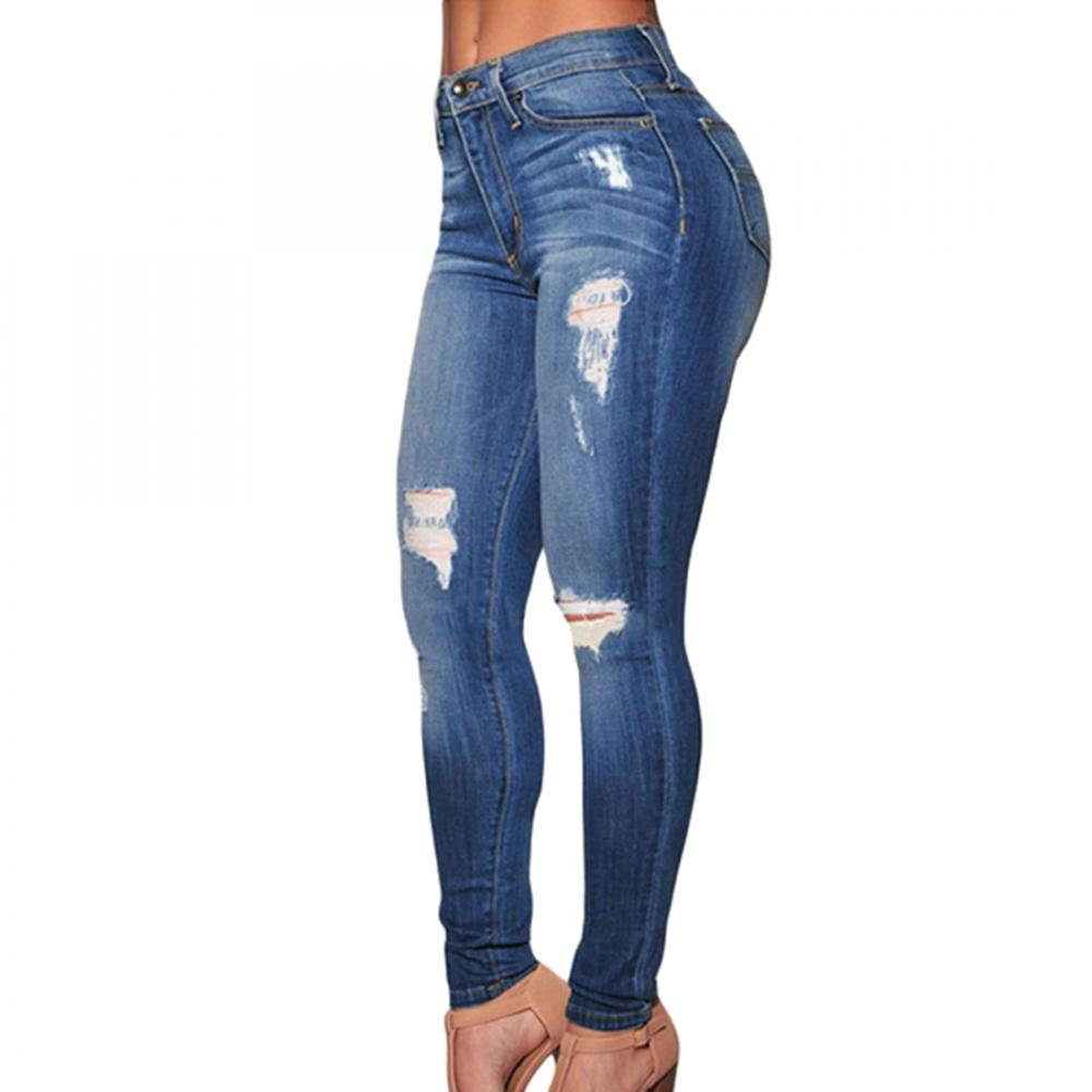 Chine Bas MOQ Mode Femmes sexy jeans Classique En Jean Taille Haute jeans mujer