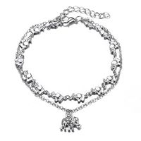 Elephant Woman Anklets Silver Anklets Designs Anklets For Women Foot Jewelry