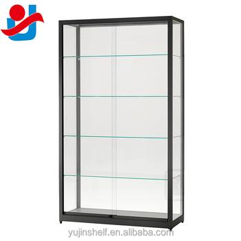 Black Economy Toy Shop Showcase Sliding Glass Doors Toy Display Cabinet