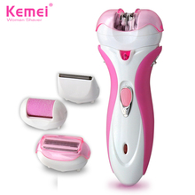 Free Shipping New 4 in 1 Women Shave Wool Device Knife Electric Shaver Wool Epilator Shaving Lady's Shaver Female Care KM-2530