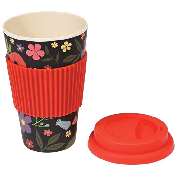 Eco-friendly 100% natural bamboo coffee cup with reusable silicone lid , bamboo coffee cup reusable