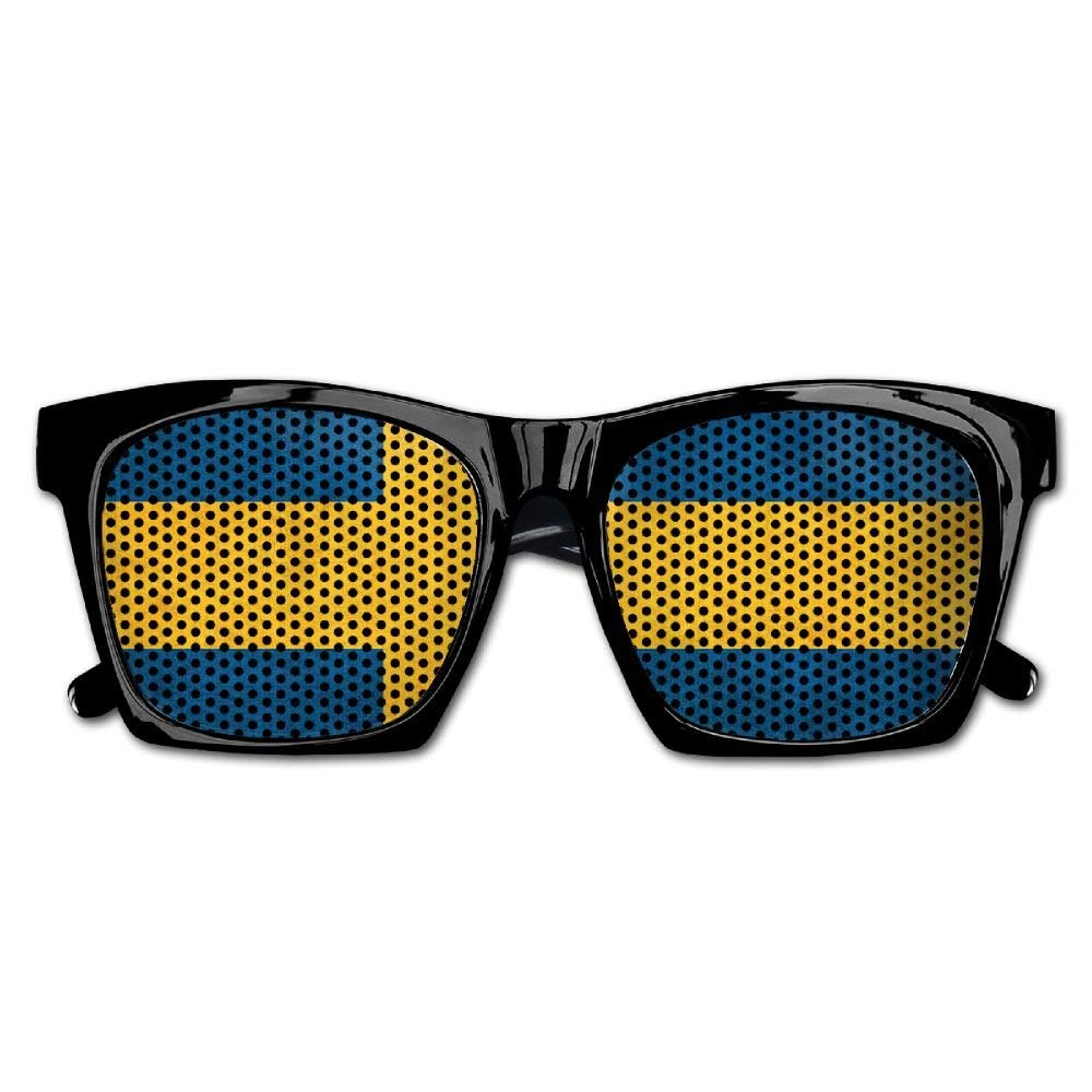 aad4cc0145 Get Quotations · PINE-TREE Adult Sweden Vintage Flag Fashionable Visual  Costume Mesh Sunglasses Fun Props Party Favors