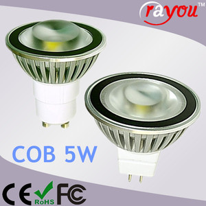 Dimmable reflector mr16 led, warm white led spotlight cob, led mr16 5w cob for 35w halogen replace