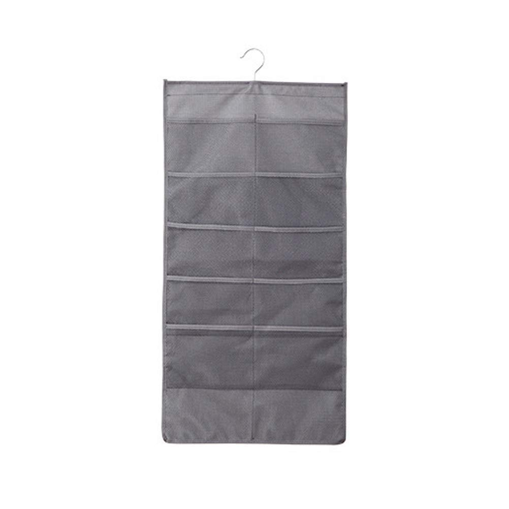 BESTOMZ Wardrobe Hanging Stylish Waterproof Storage Bags Home Travel Sorting Bag Travel Storage Bag Translucent Bag Thick Waterproof Bag(Grey)