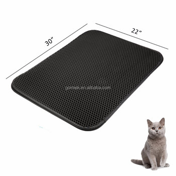 fce3cf769 Honeycomb Double-Layer Design With Waterproof/Urine Proof Material cat  litter mat