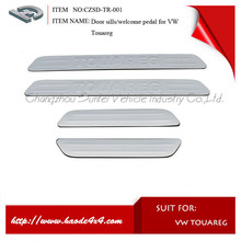 oe style stainless steel door sill plate for vw touareg