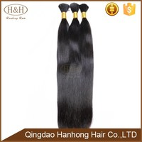 Virgin chinese remy human hair bulk 8-30 inch straight huamn hair bulk
