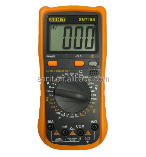 China New design Digital Multimeter SNT18A