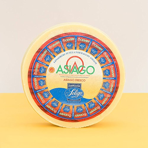 Cheese Asiago Pressato (Fresco) DOP (4 Lb Cut) from Italy