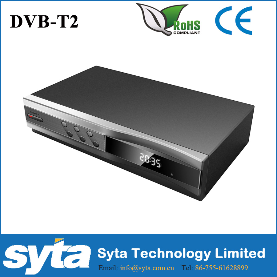 Syta hd+fta+usb PVR dvb-t2 ricevitore digitale dvb t2 set top box