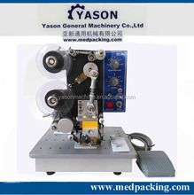 Hot sale Color Ribbon Electric Batch Code Printing Machine