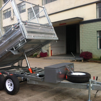 galvanized garden tools Atv dump trailer, single axle 4t box tipper semi trailer for farm tractor parts kits