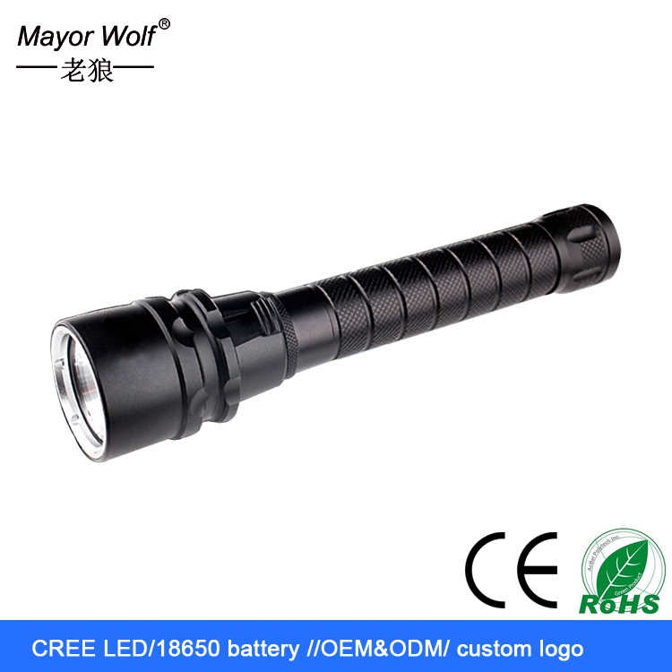 powerful rechargeable x8 underwater diving led flashlight with <strong>cree</strong> t6 led