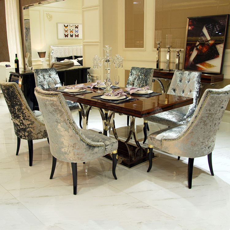 New classic modern dining room sets design luxury dining table and chair