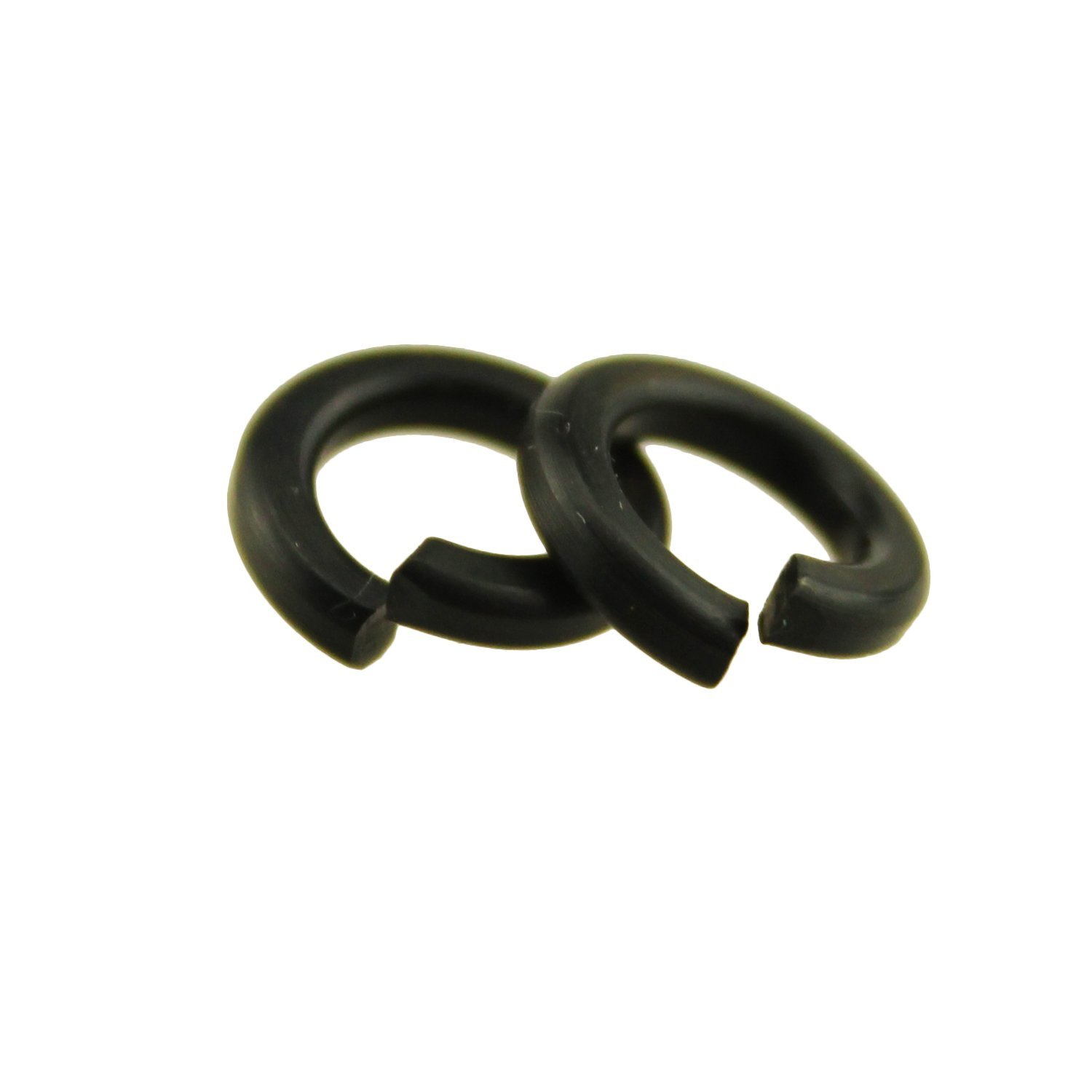 IZTOSS 150PCS M8 Black Oxide Oxidation Carbon Steel Gasket Ring Silver Spring Lock Washer Split Washer