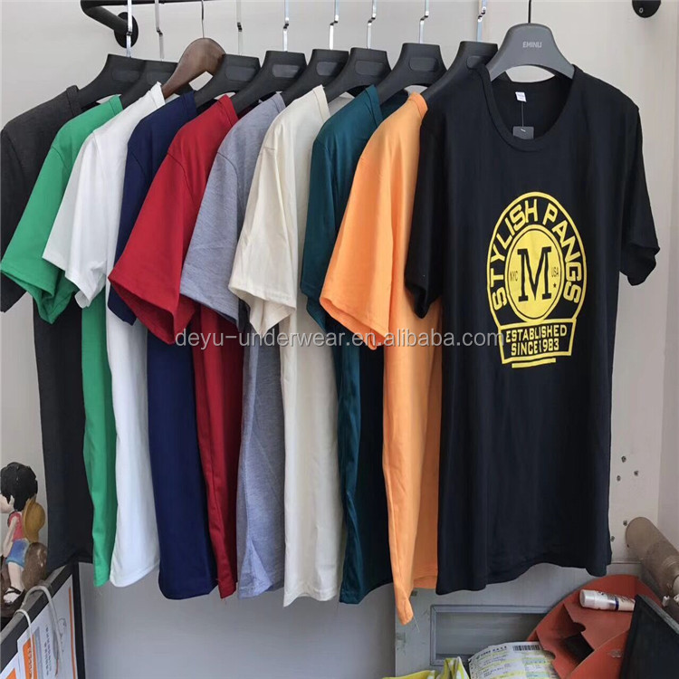 0.9Dollars GDZW762 Stock Yiwu Market Free Size Factory Provide wholesale t-shirts, cotton t-shirts, men polo t-shirts