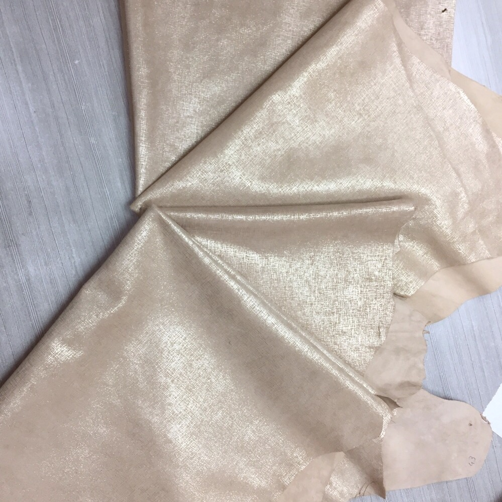 New Proudtcs exported Metallic Soft Genuine goat Finished leather for shoes bags making