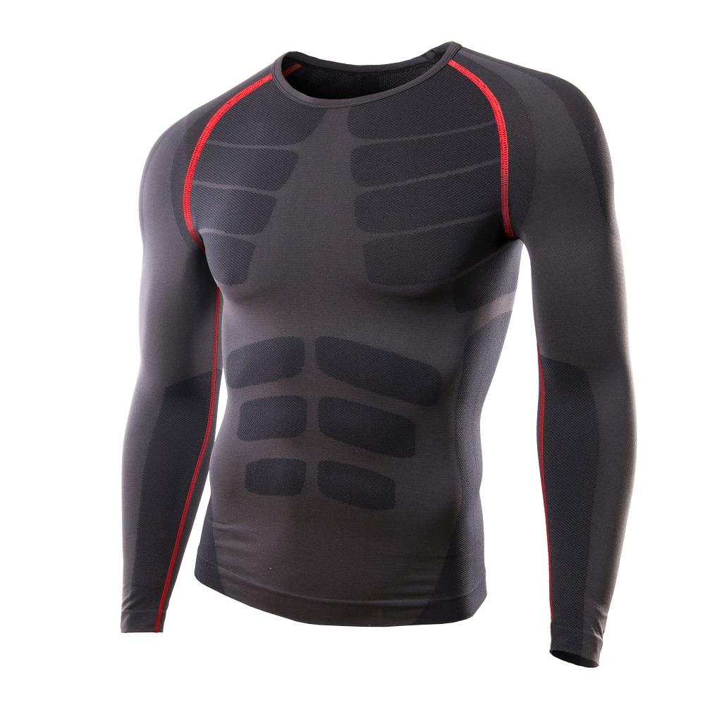 Men's Running Cycling Tight Sportswear Long Sleeve ...