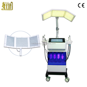 8 in 1 water oxygen jet peel / diamond microdermabrasion / PDT led light therapy SPA beauty device