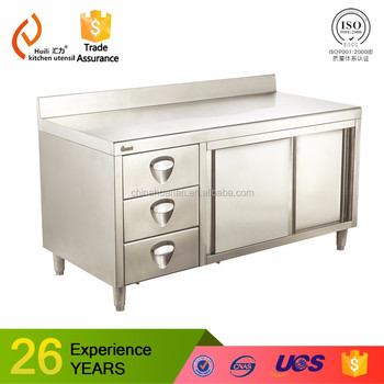 Sus commercial industrial kitchen worktable bench wok table handmade sus commercial industrial kitchen worktable bench wok table handmade with drawers for pantry made in china workwithnaturefo