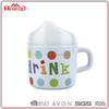 Printing English letter drink sippy kids melamine cup with handle & PP cover lid