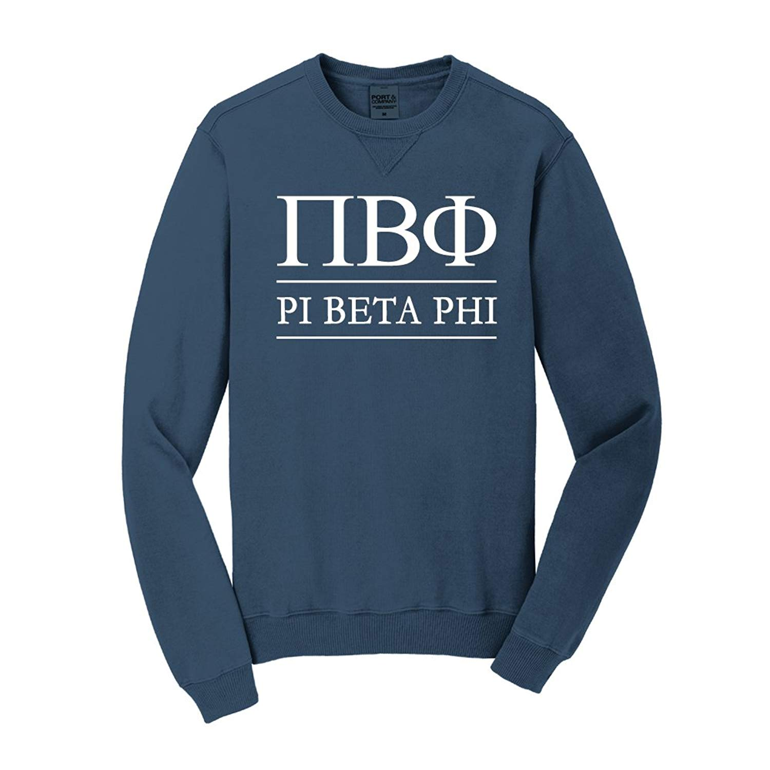 Sorority Letters Shop PI Beta Phi Vintage Color Crewneck
