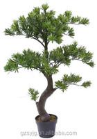indoor home decorative plastic small artificial pine trees