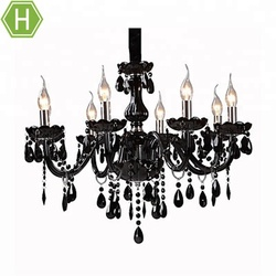 Modern Large Black Crystal Foyer Gothic Chandeliers Pendent Lights