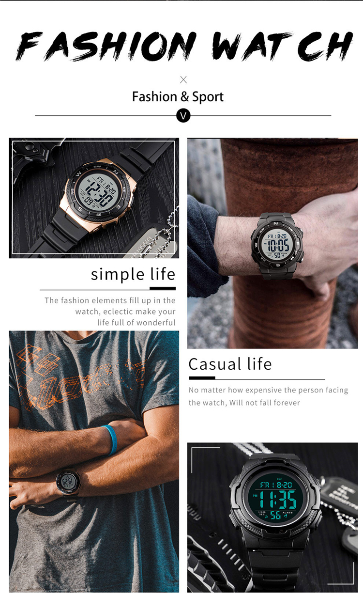 SKMEI 1423 Sports Watch Digital Top Luxury Brand Army Military Waterproof Watches Mens Electronic Clock Relogio Masculino