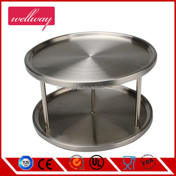 2 Tier Lazy Susan Turntable Use For A Spice Organizer Or Kitchen ...